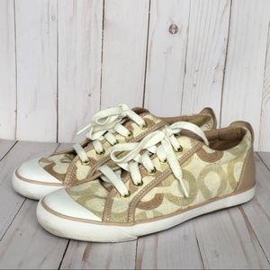 Coach Barrett Tan Sneakers